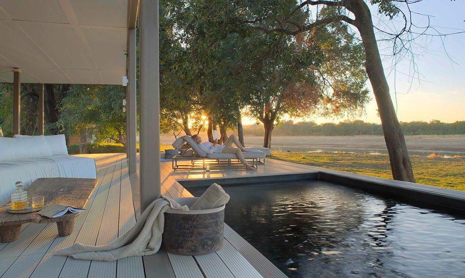 Chinzombo, a luxurious safari camp in Zambia, is one of the best resorts in Africa with private pools.
