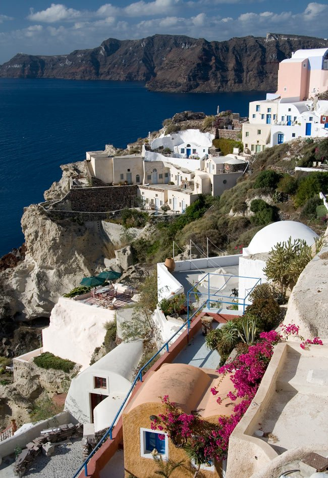 The views are mind-blowing on Santorini