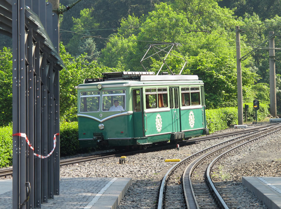 All aboard! Taking a ride on the Drachenfels Rack Railway to the castle up top