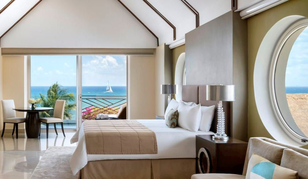 Grand Class suites at the Grand Velas Riviera Maya boast ocean views and private plunge pools on their balconies.