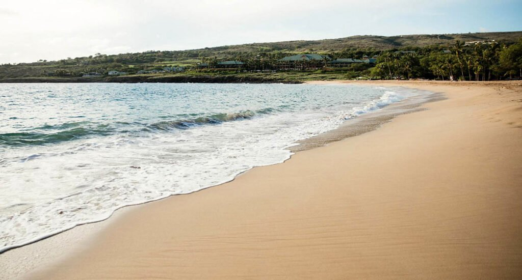 Chilling on Hulopoe Beach is one of the best things to do on Lanai.