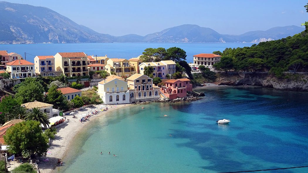The village of Asos on Kefalonia (possibly the most beautiful island in Greece)