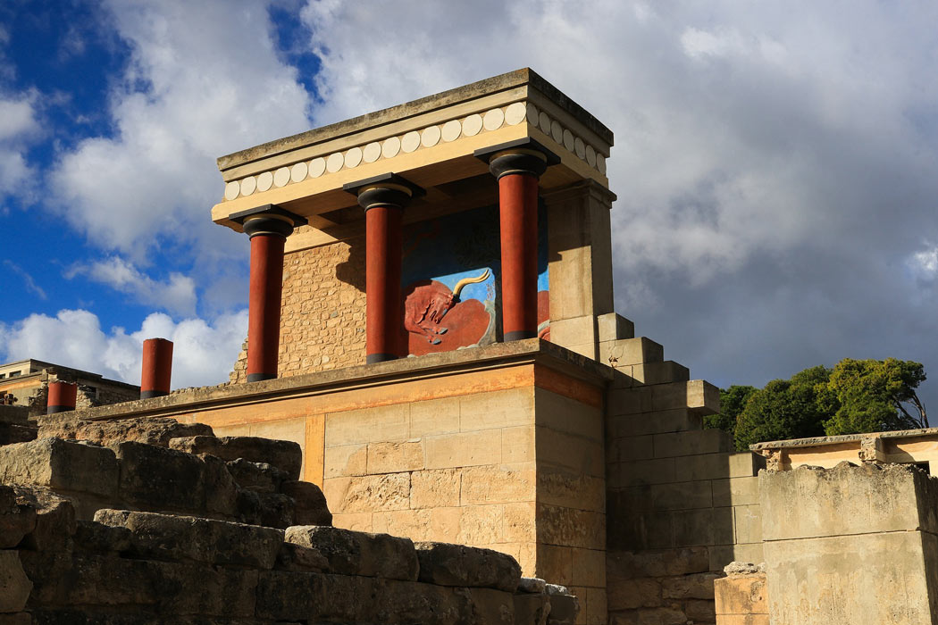 Interesting facts about Crete: The minotaur lived in a labyrinth under the Palace of Knossos.