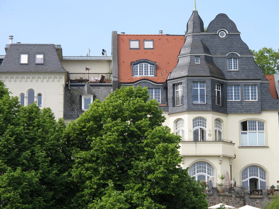 Mansions on the Rhine in Bonn