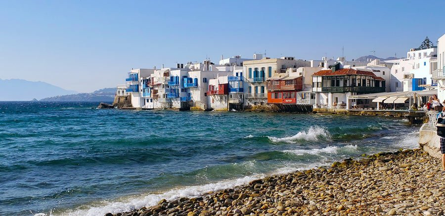 Facts about Mykonos: Not many people actually live on Mykonos, but it gets whopping numbers of visitors in summer.