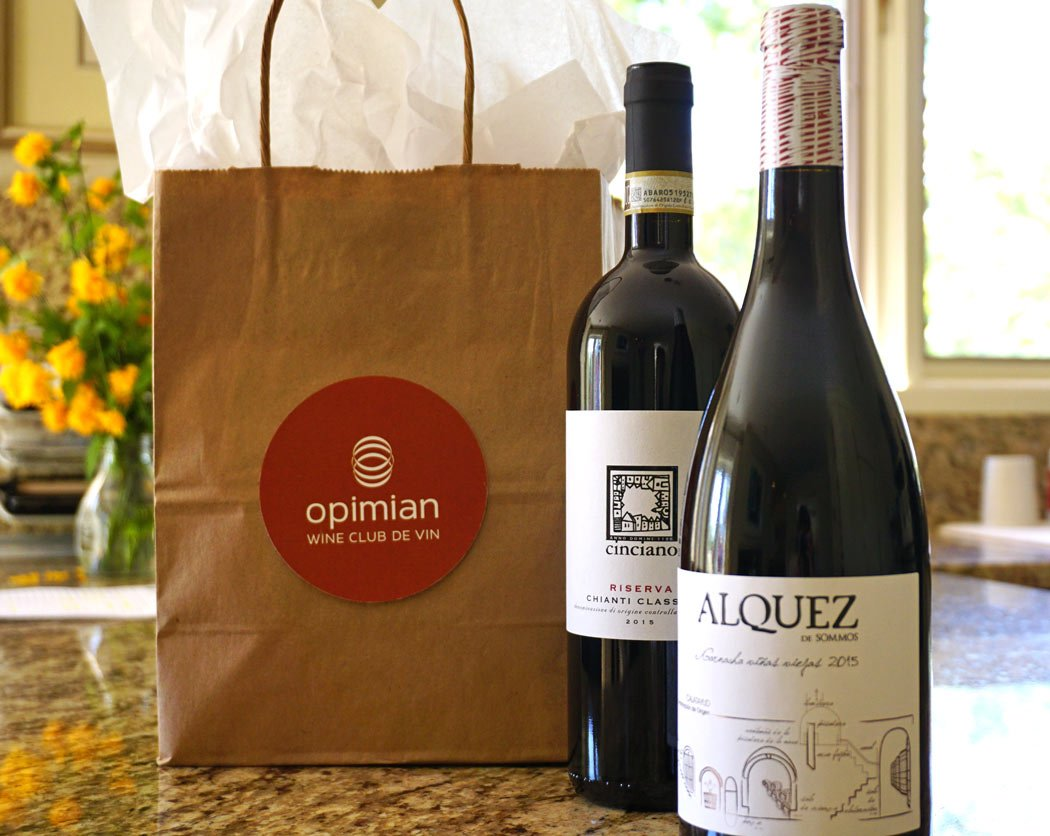 Wines from the Opimian Wine Club de Vin, one of the best wine clubs in Canada