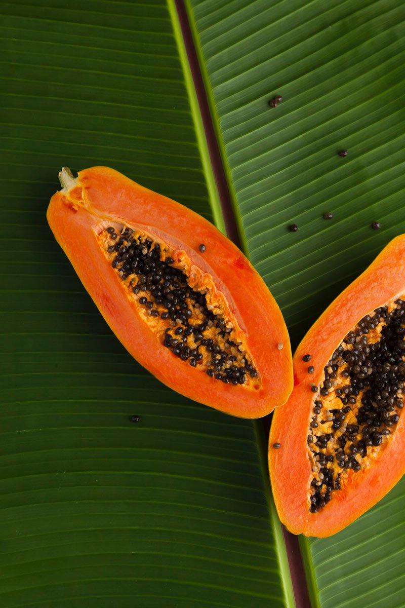 Papaya is one of the most popular Mexican fruits, commonly eaten at breakfast.