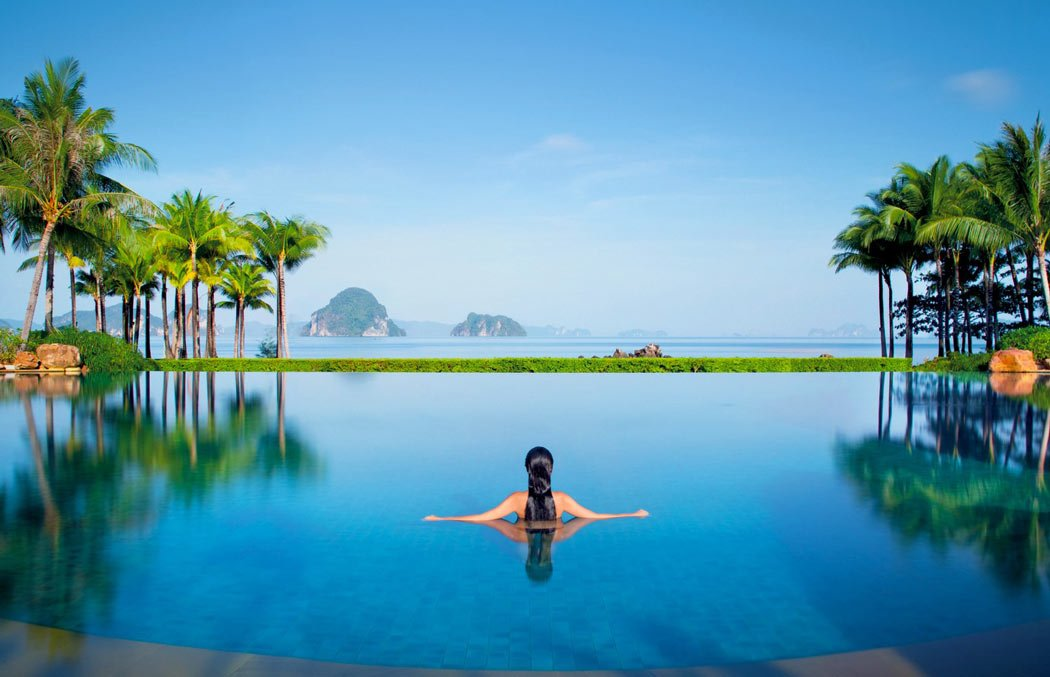 Infinity pool at Ritz-Carlton Phulay Bay, Thailand