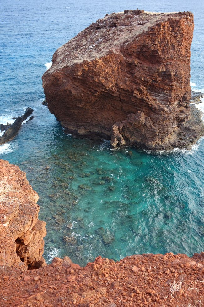 "Puu Pehe or ""Sweetheart Rock"" on Lanai, Hawaii"