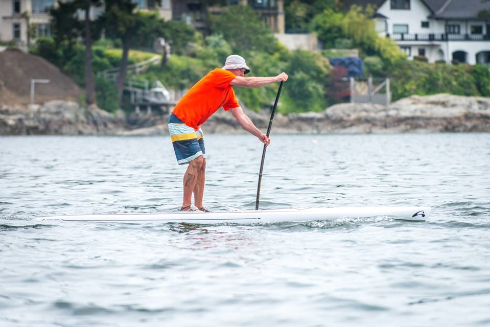 SUP boarding in Victoria, BC, is becoming more popular