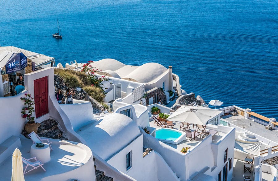 Facts about Santorini: Santorini is one of the world's most beautiful islands.