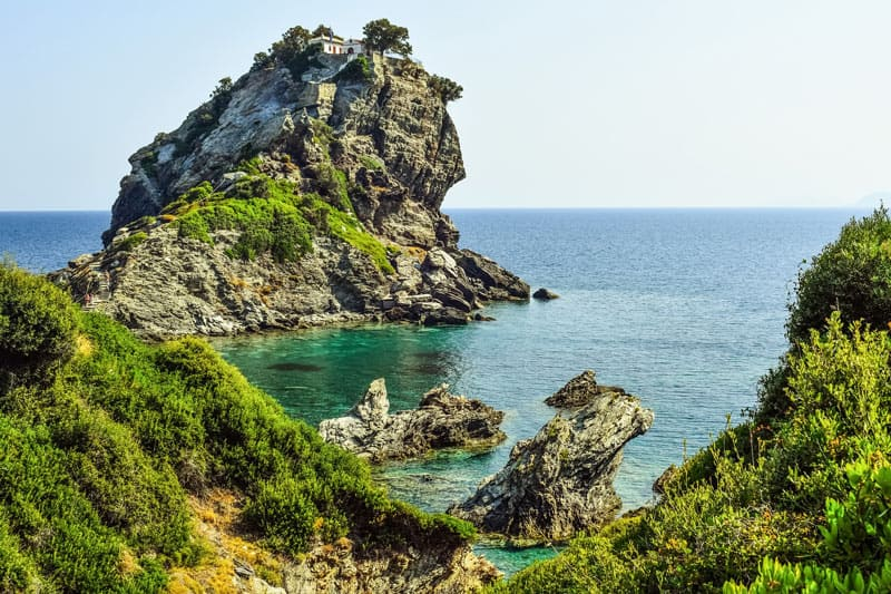 "Fun Greek facts: The Greek island of Skiathos was used for filming the movie ""Mama Mia."""