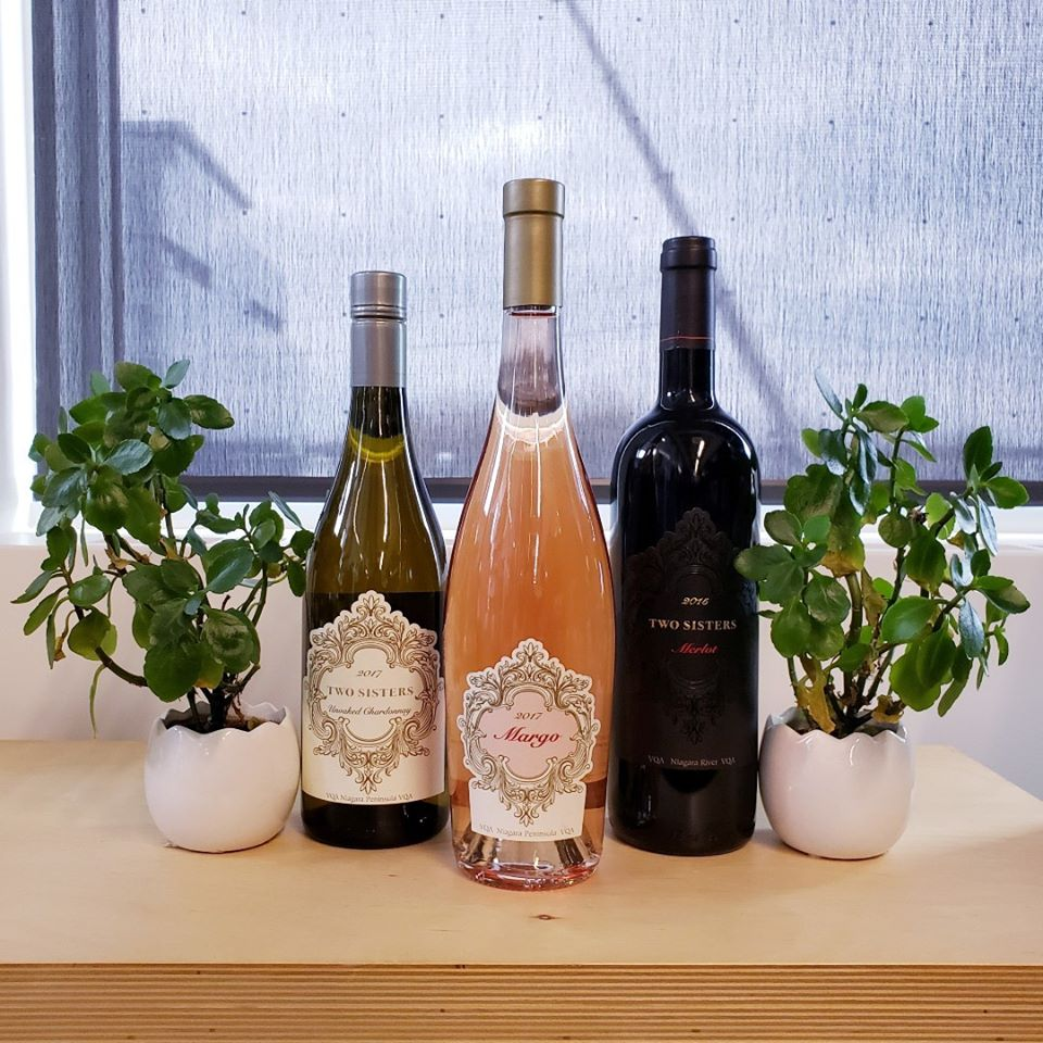 "Wines from Two Sisters Vineyards, chosen by the Wine Club, one of the best ""wine of the month clubs"" in Canada."