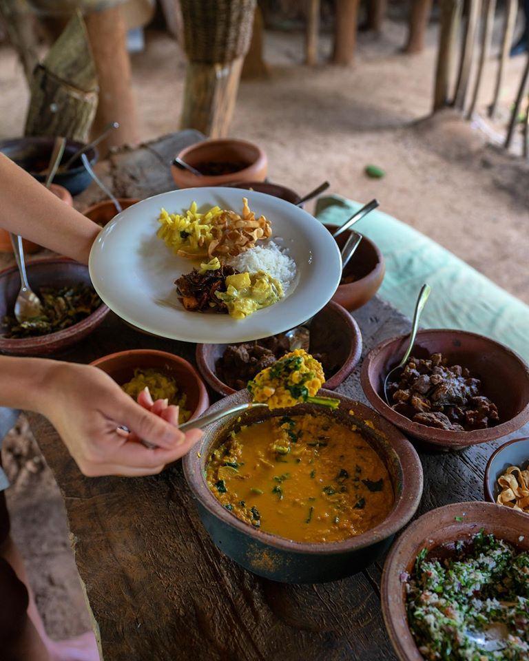 Sri Lankan curry at Ulagalla