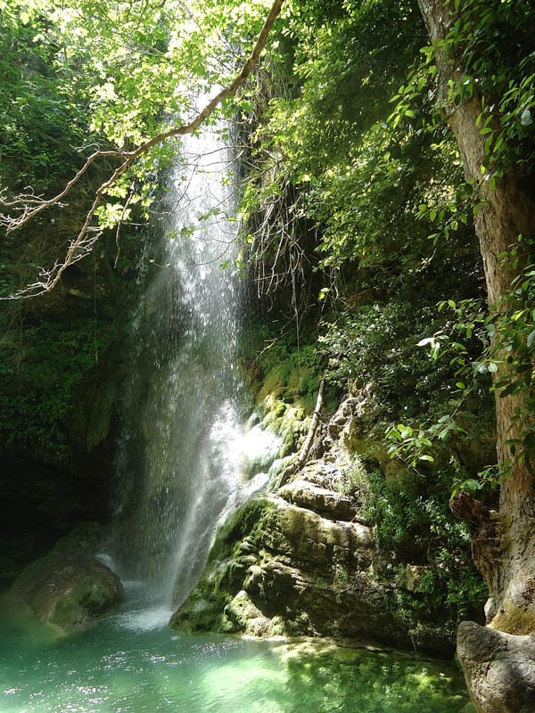One of several waterfalls in Kythera