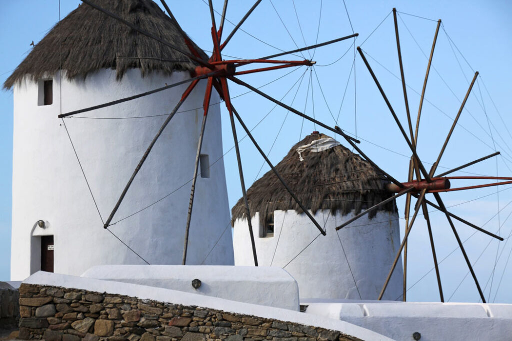 Fun facts about Mykonos: There used to be 28 windmills. Now there are 16 old windmills.