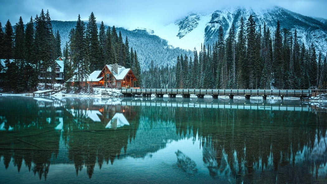 Emerald Lake in Yoho National Park is the the color of emeralds.