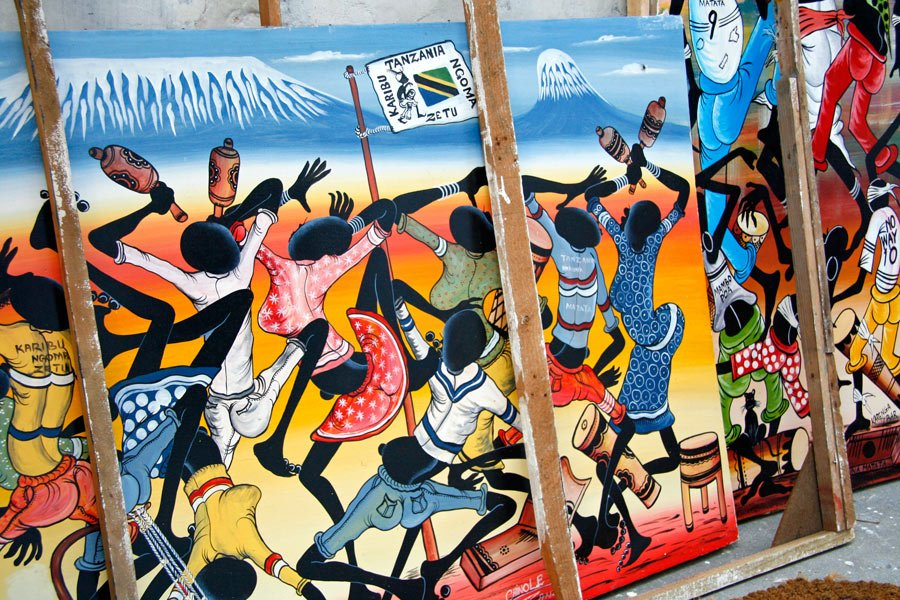 Art for sale in Stone Town, Zanzibar