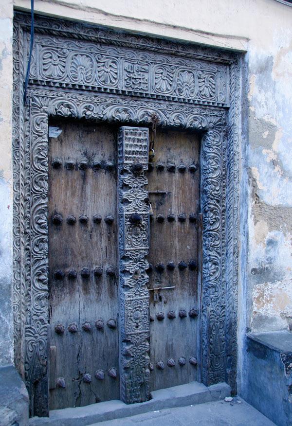 A blue Zanzibari door