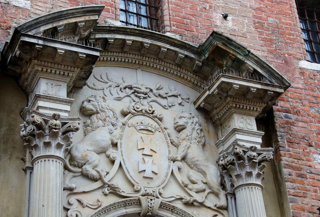 Carved doorway in Gdansk Old Town