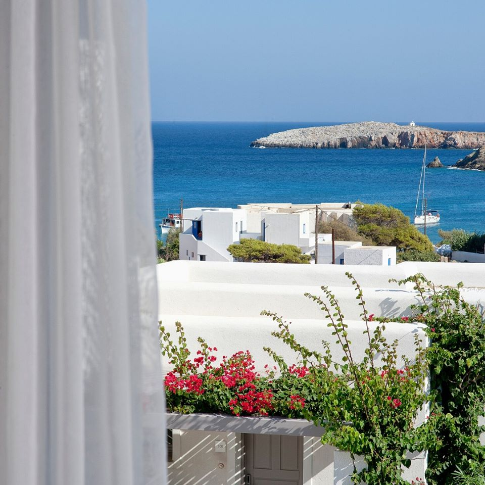 Looking out from the Anemi Hotel on Folegandros