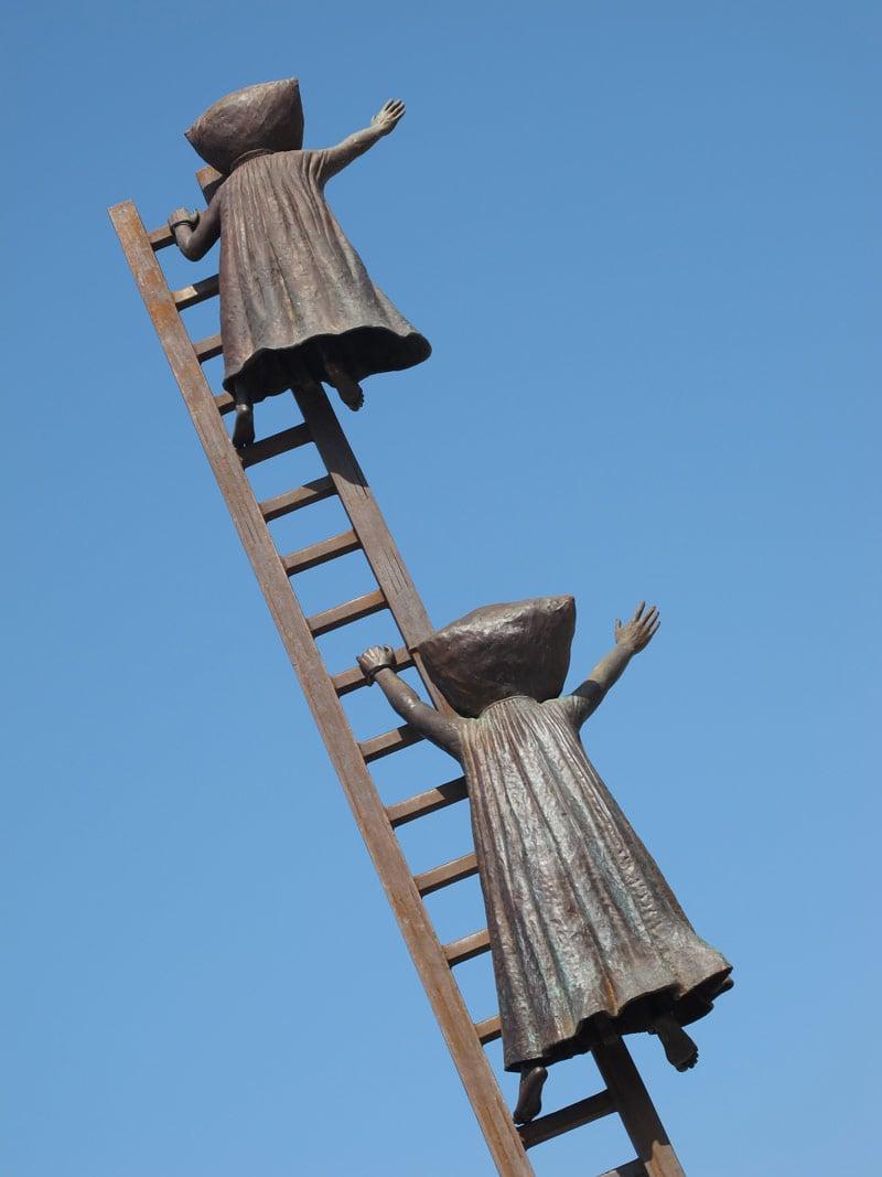 """""""In Search of Reason"""" sculpture on Puerto Vallarta's Malecon"""