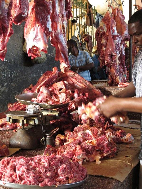 Meat at Darajani Market, Stone Town