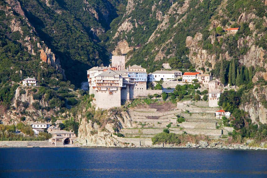 Women (and female animals) are banned from Mount Athos.
