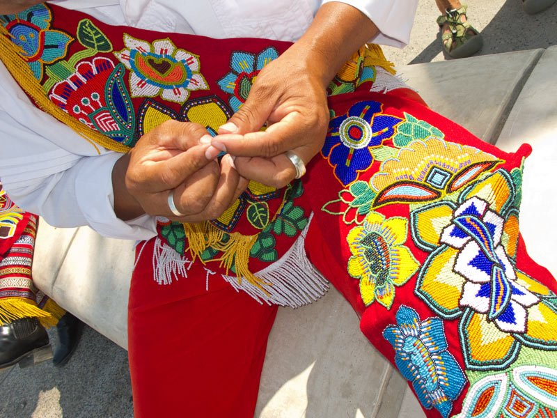 Huichol bead work in Puerto Vallarta