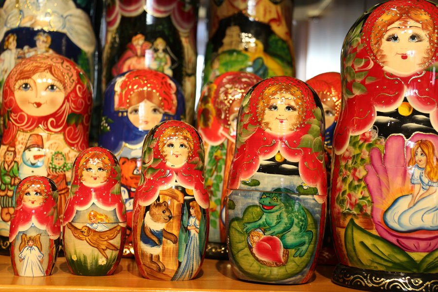 Russian nesting dolls for sale in Tallinn, Estonia