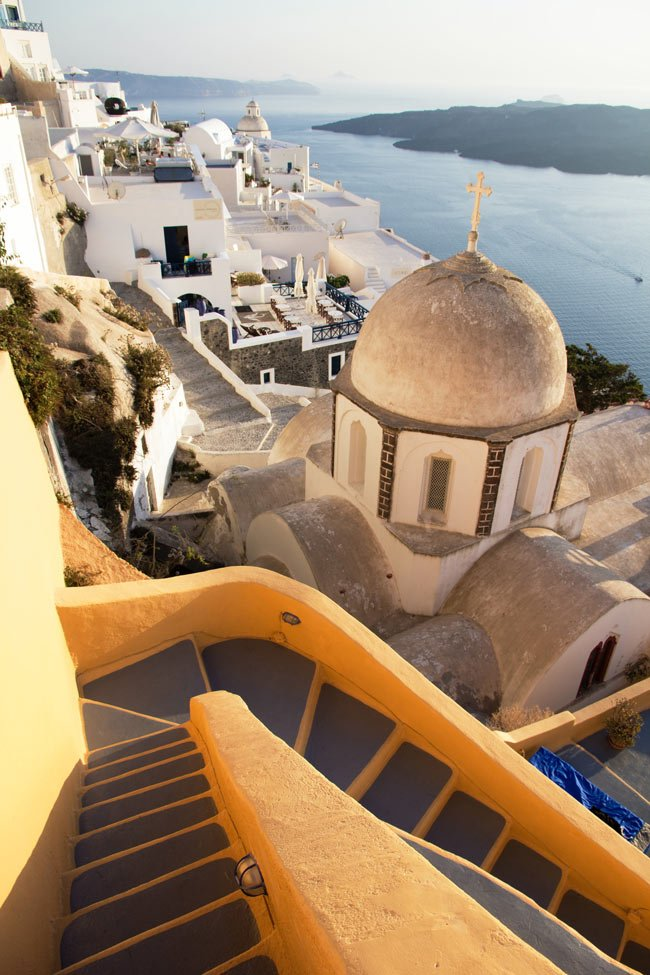 No need to go to the gym - you get a work-out just walking in Santorini!