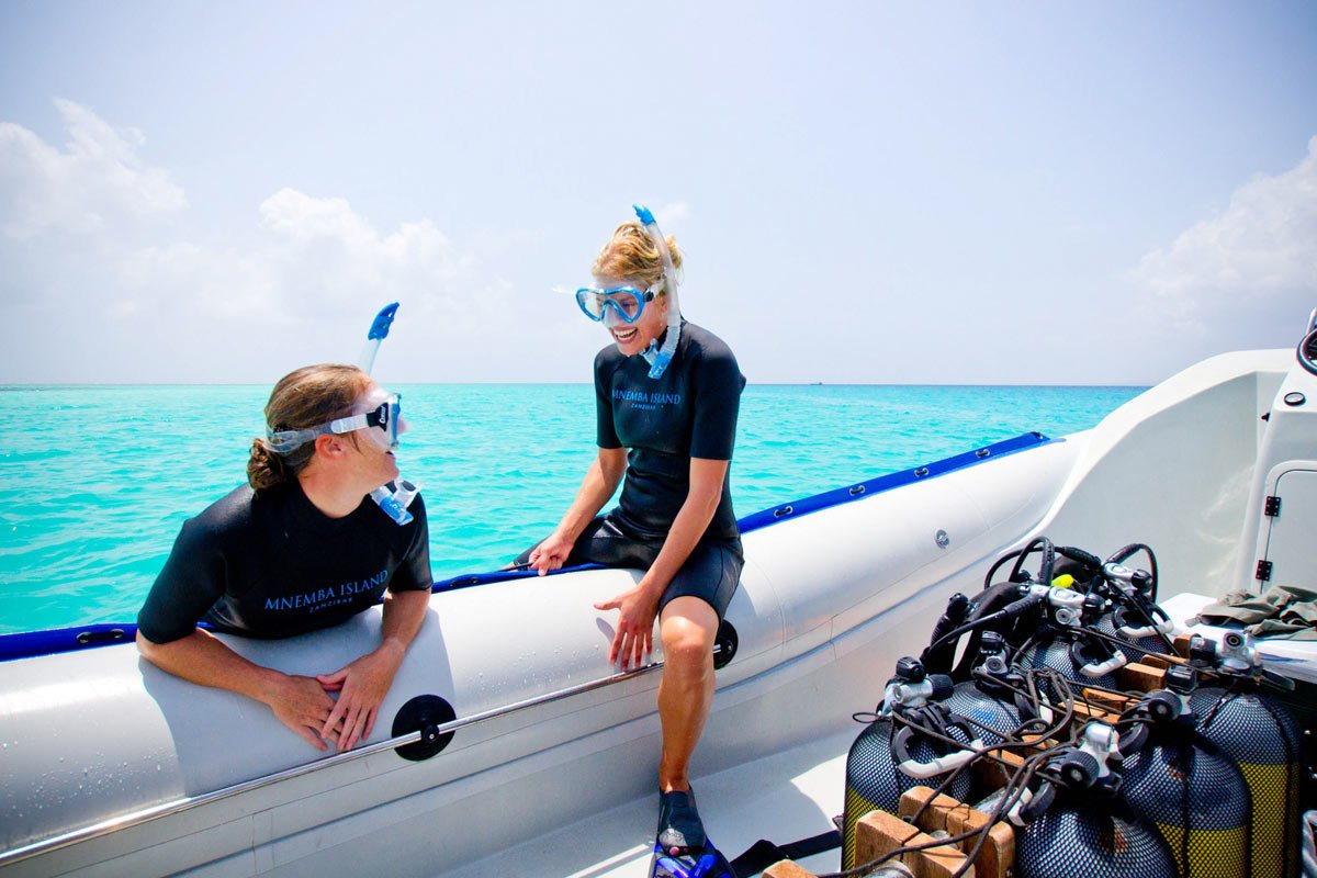 Scuba diving at Mnemba Island Lodge