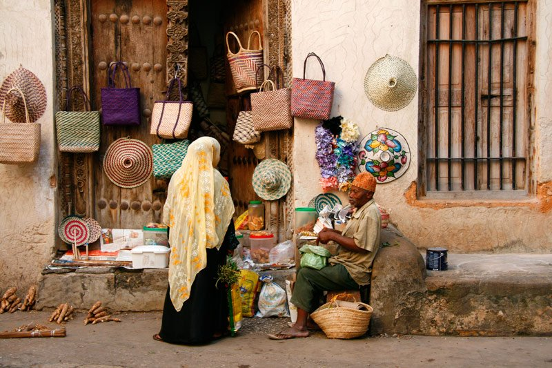 Shopping in Stone Town, Zanzibar