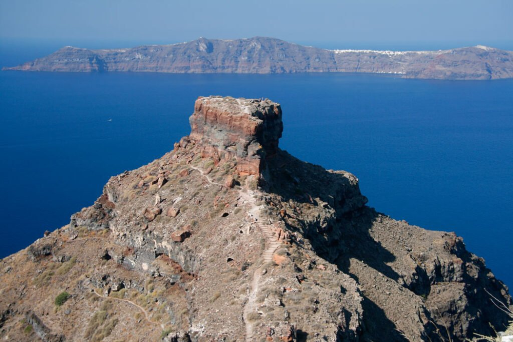 We got a work-out hiking up Skaros Rock in front of the Grace Santorini Hotel.