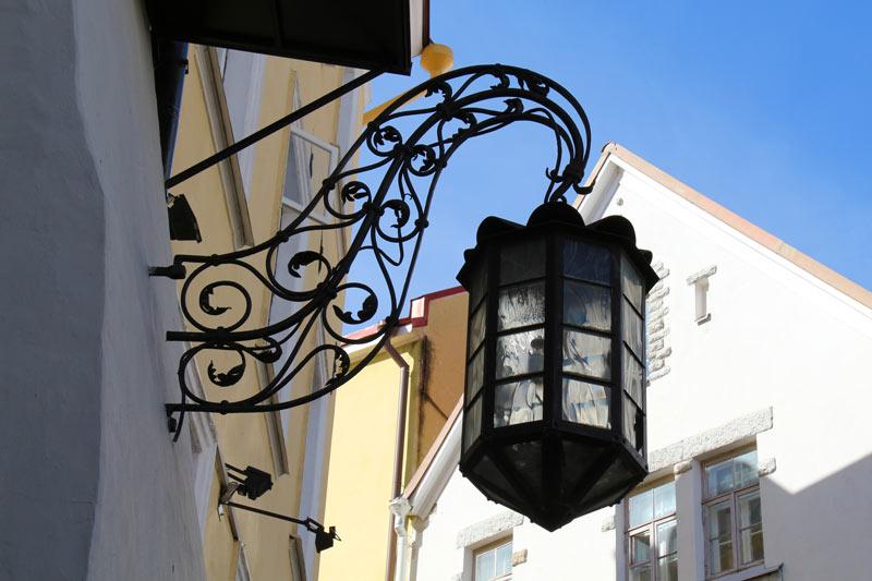 Tallinn Old Town street lamp