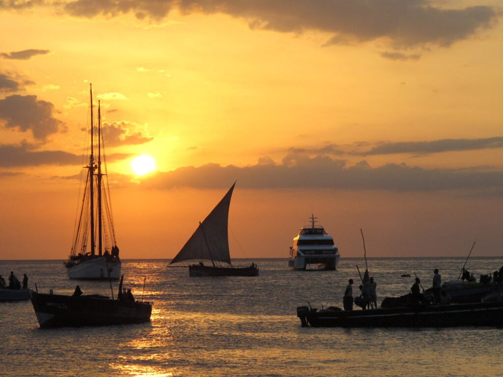 Sunset dhow cruise in Stone Town, Zanzibar
