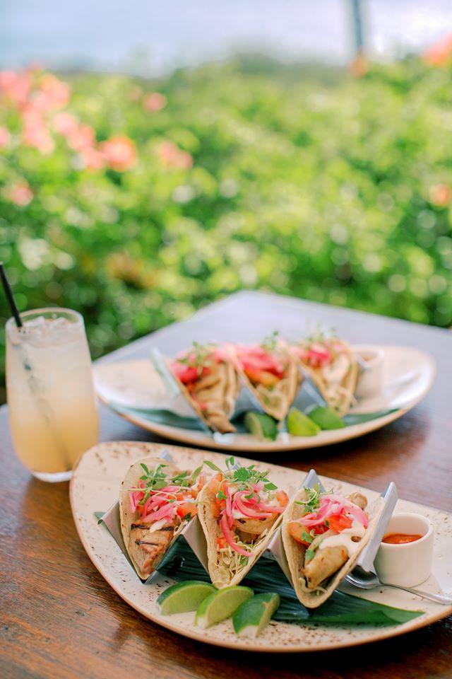 Tacos at Nobu Lanai
