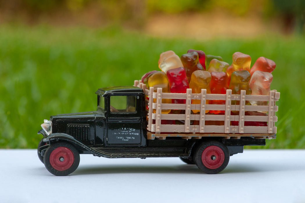 A truck of gummy bears!