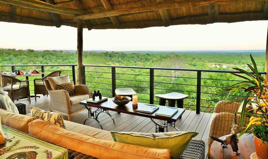 The viewing deck at the Victoria Falls Safari Club