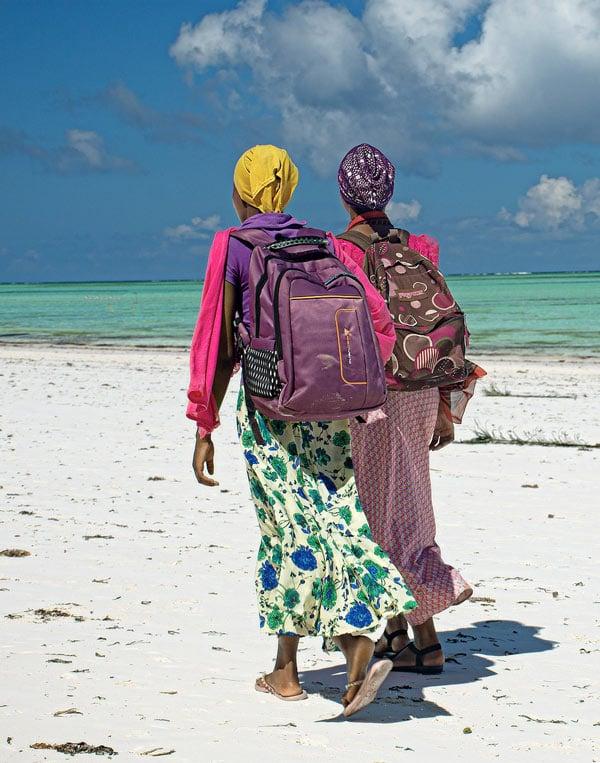 Walking on Bwejuu Beach, Zanzibar
