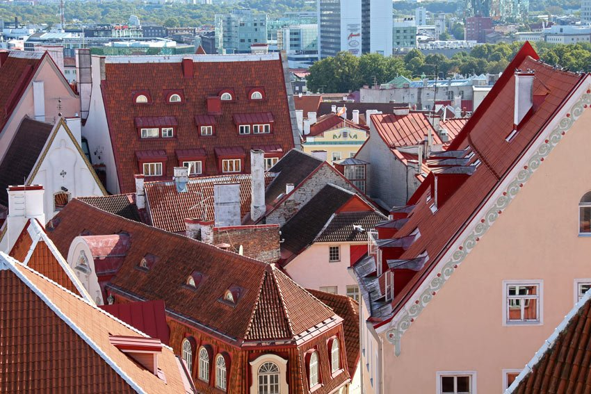 Red roofs of Tallinn Old Town