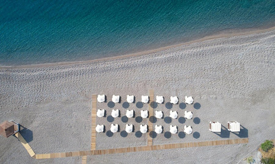 Beach at Boutique 5 Hotel & Spa on Rhodes