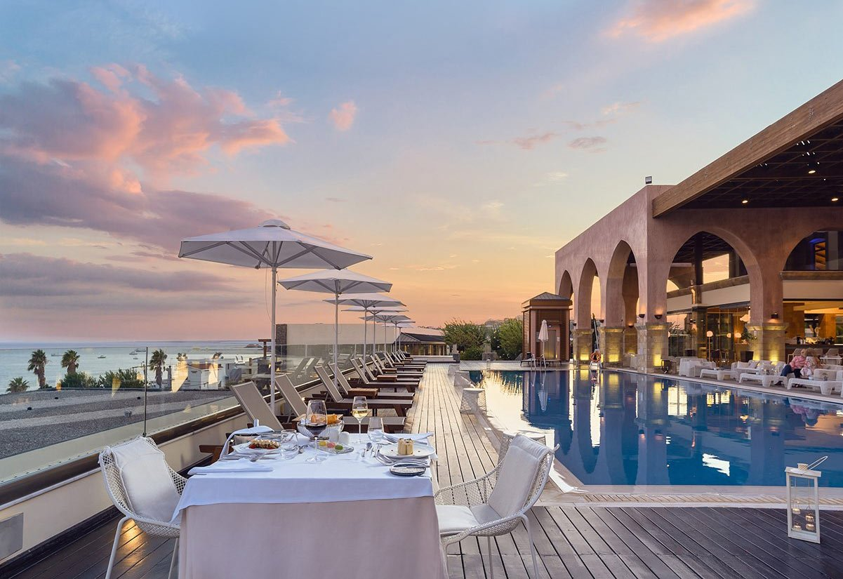 Boutique 5 Hotel & Spa is one fo the best beach hotels in Rhodes.