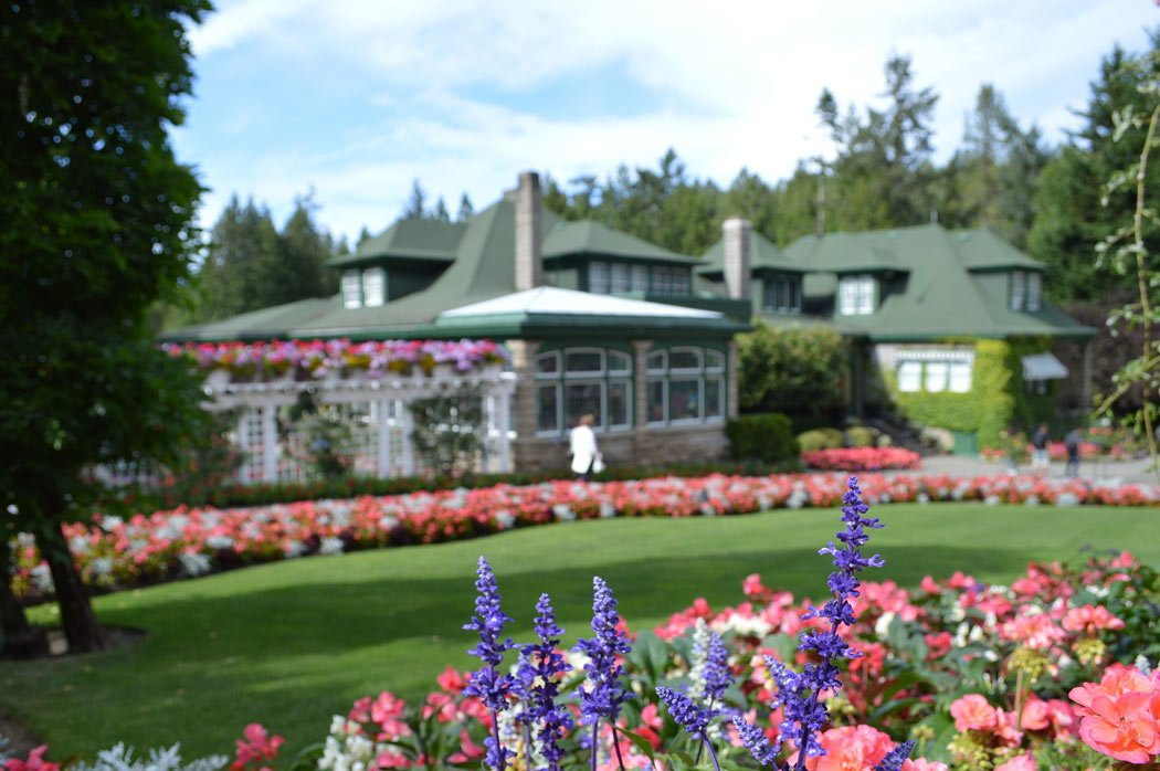 Beautiful gardens in British Columbia