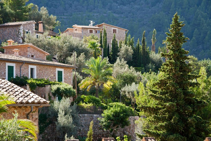 The pretty village of Deia on the north coast, where poet Robert Graves lived for 50 years