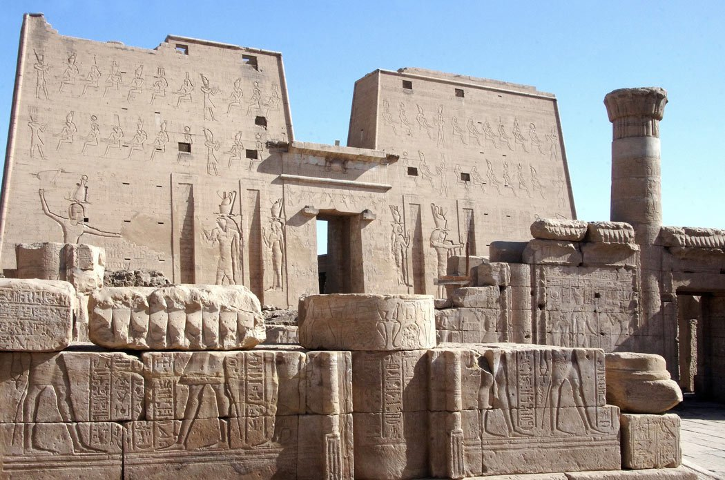 Edfu Temple is one of the best-preserved Egyptian temples