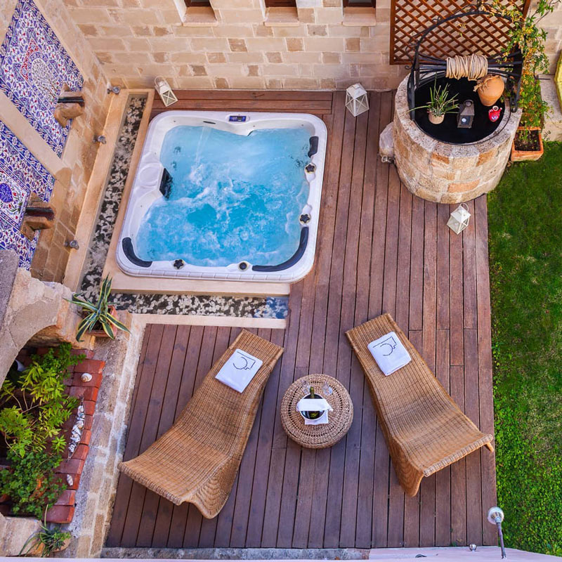 The In Camera Art Boutique Hotel in Rhodes Old Town boasts a courtyard garden.