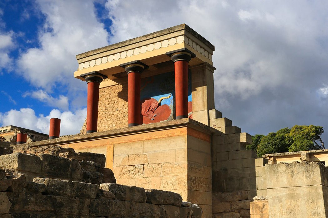 Knossos is one of the best Greek ruins to visit