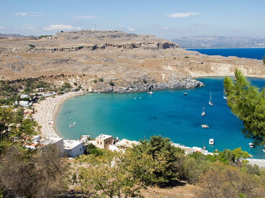 Some of the best beaches in Rhodes, Greece, are found in Lindos.