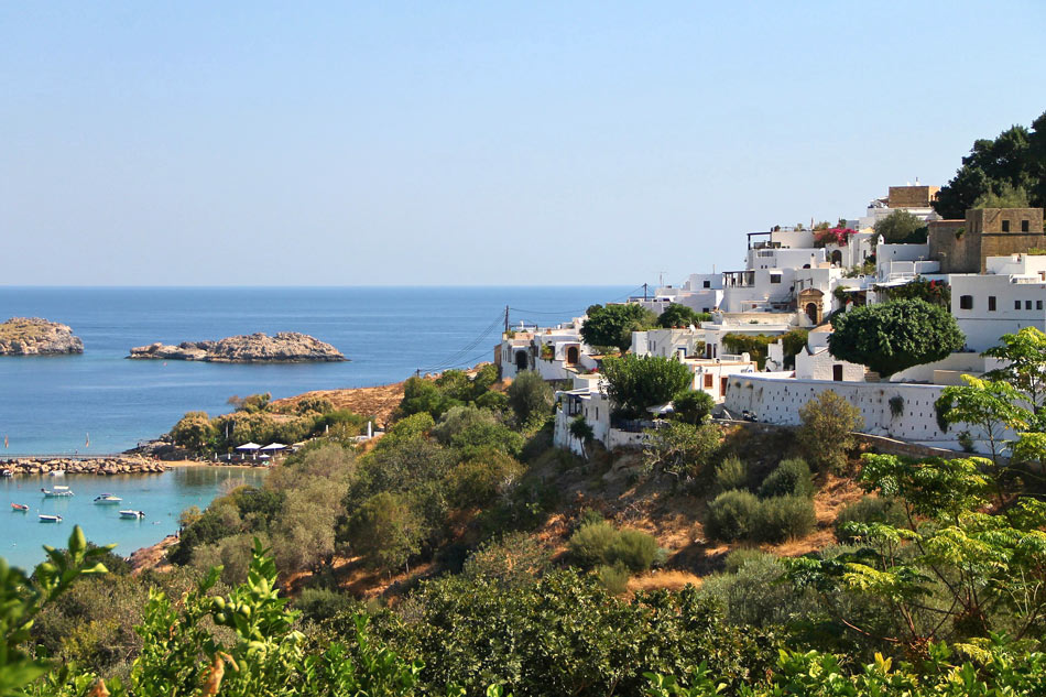 Lindos is one of the best places to stay in Rhodes, Greece.
